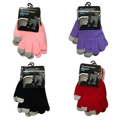 1 Size Touch Screen Girls Boys Ladies Gloves For All Touch Screen Types Devices