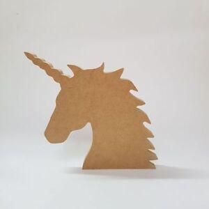 18-mm-MDF-Unicorn-Head-200-mm-haute-MDF-en-Bois-Craft-Blanc