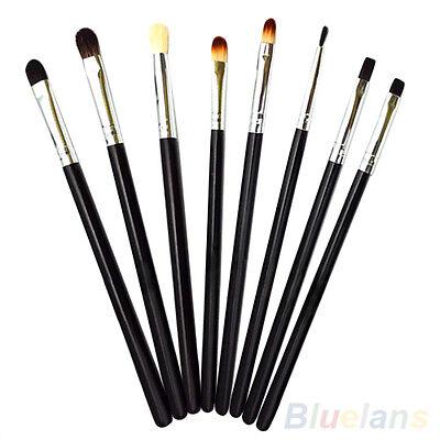 8PCS Eye Brushes Makeup Set Blend Angled Eyeliner Smoked Eyeshadow Brush Beauty