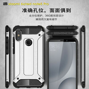 huge discount 4a389 980c6 Details about For Xiaomi Redmi Note 5 6 7 Pro Rugged Hybrid Armor  Shockproof Hard Cover Case
