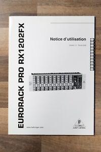 user manual multiple languages behringer eurorack pro rx1202fx rh ebay co uk Behringer 1202FX Rack Mount Mic Mixer