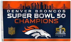 New Denver Broncos 3x5 Super Bowl 50 Champions Indoor