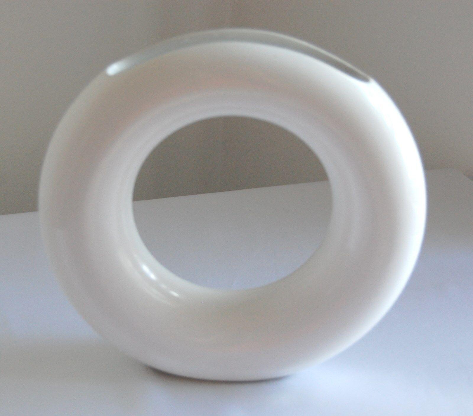 Vintage Mid-Century Modern Weiß  Freeform  Vase - JaNice Interiors Accessories