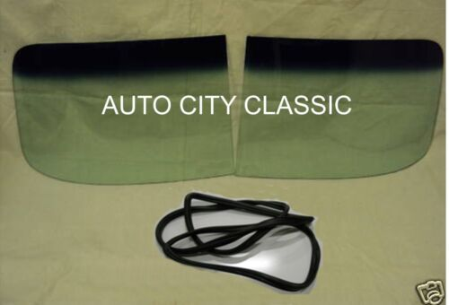 1949-1952 Chevy Coupe Sedan Glass Windshield 2 Piece Gasket w//Chrm Green Band