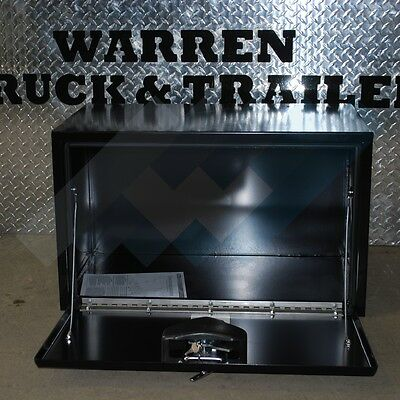 """18"""" X 18"""" X 30"""" Stainless T-Handle Black Underbody Tool Box 1702303"""