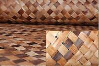 Bac Bac Multi-color Lauhala Cabana Weave Matting-wall/ceiling Covering-4x8 Rolls