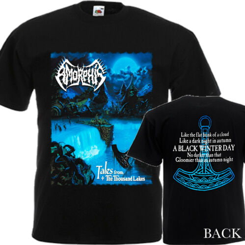 AMORPHIS Tales of the thousand Lakes-T-shirt homme-DTG Imprimé Tee Taille-S//7XL