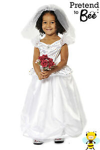 Details about GIRLS KIDS BRIDE WHITE WEDDING PRINCESS FANCY DRESS COSTUME +  VEIL AGE 3 4 5 6 7