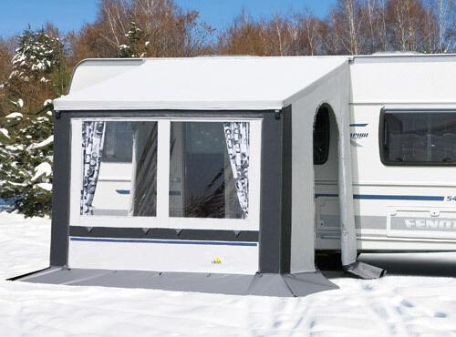 DWT Vorzelt Cortina II 250x200 cm grau Ganzjahresvorzelt Wohnwagen Zelt Camping