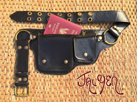 Leather Purse Belt Bag Travel Fanny Pack Passport Pouch Iphone Pocket - Hipster