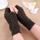 Women Fingerless Warm Mitten gloves knitted Arm Hand warmer half finger winter