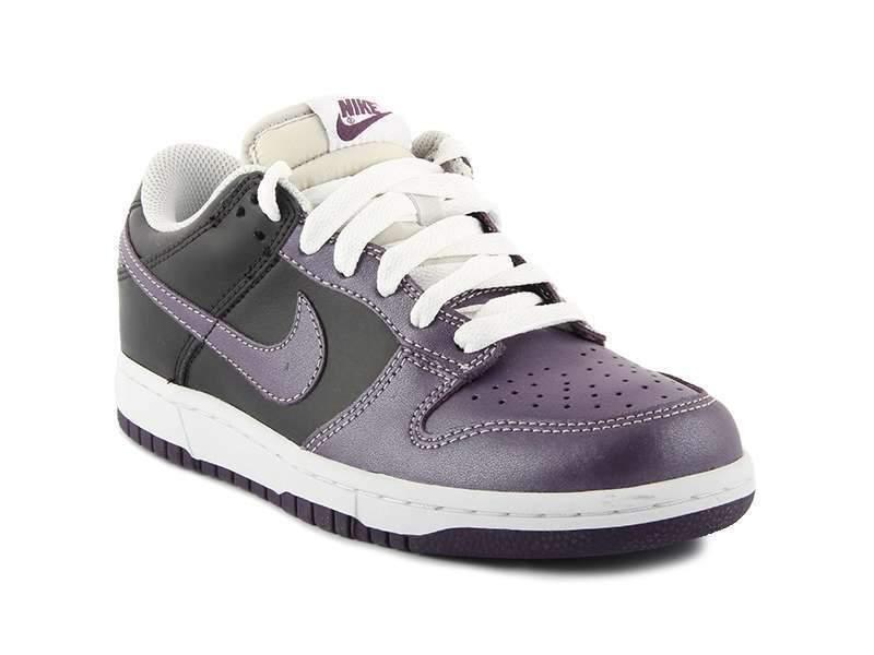 damen Nike dunk Low Leder Schwarz Lila Gr    41 Freizeit vandal force 317813-552 473723
