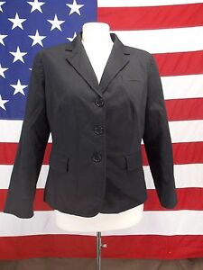 Talbots-Blazer-Jacket-Lined-Petite-Long-Sleeve-Button-Front-Women-039-s-Size-14P
