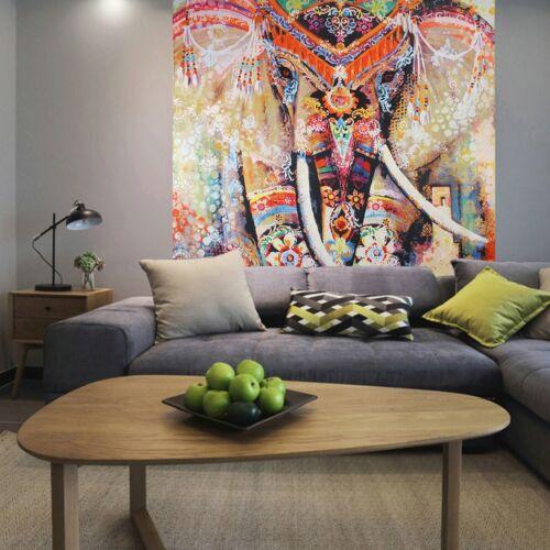 Indisch Mandala Hippie Elefant Tapisserie Wandteppich Wandbehang Badetuch Matte
