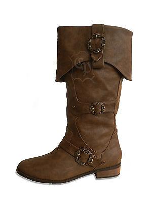Medioevo Scarpe Stivali Morbide Pirata Pirati Pirata Stivali Moschettiere-mostra Il Titolo Originale Prestazioni Affidabili