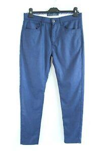 ZARA-MAN-BNWT-Dark-Blue-Slim-Fit-Men-Trousers-Size-38-EU-M
