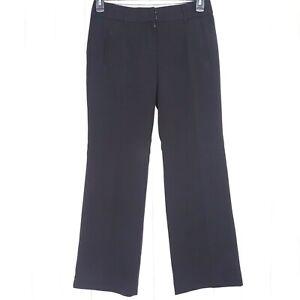 Ann-Taylor-Loft-Marisa-Black-Trouser-Pants-Size-2P-Petites-Dress-Slacks-Career