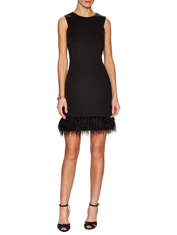 Maia Fringe Hem Sheath Dress NWT