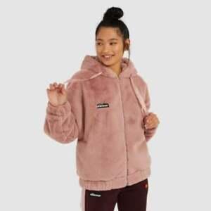 Ellesse-Womens-Zip-Jacket-Hooded-Fleece-Faux-Fur-Pink-Giovanna-Winter