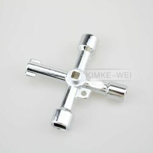 Universal Cross Key for Train Electrical Cabinet Elevator Square Triangle Alloy