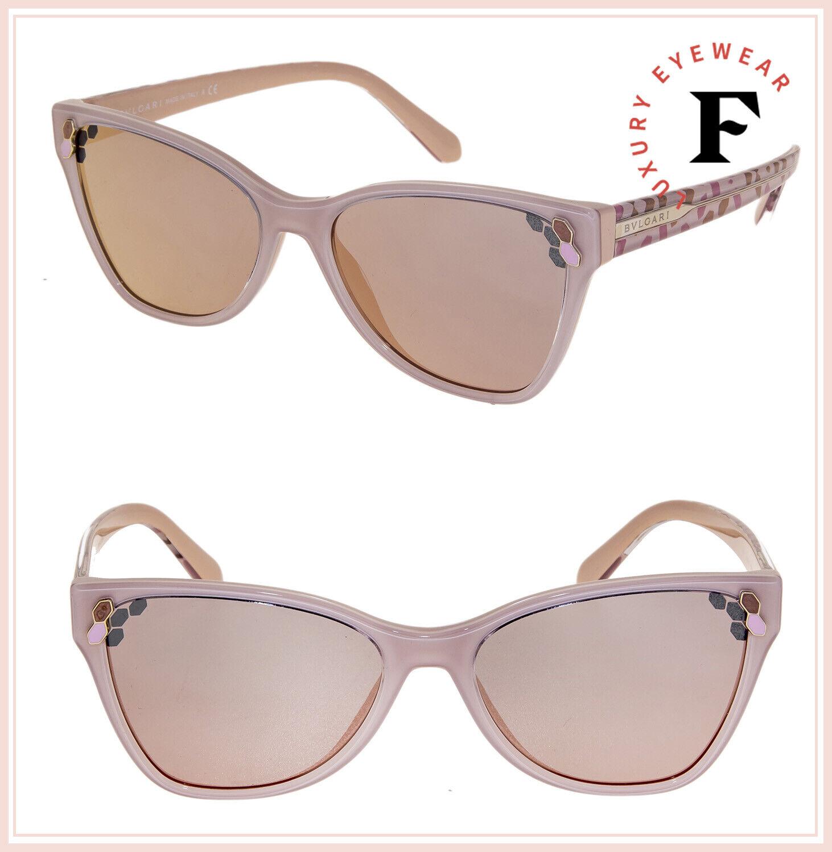 BVLGARI SERPENTI Powercandy BV8208 Nude Pink Rose Scales Mirror Sunglasses 8208
