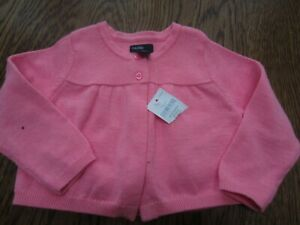 BABY-GAP-GIRL-039-S-6-12-PINK-CARDIGAN-SWEATER-NWT-EASTER