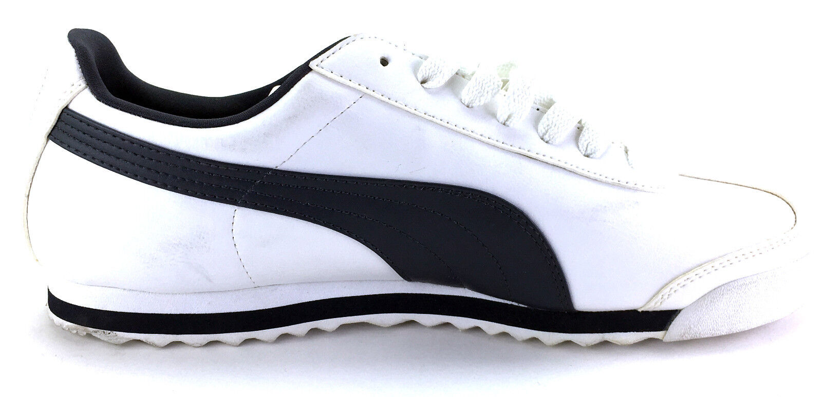 0cdf91dda88e ... Puma Shoes Roma Basic Basic Basic Retro White Black Sneakers Size 10  dc1c5e ...
