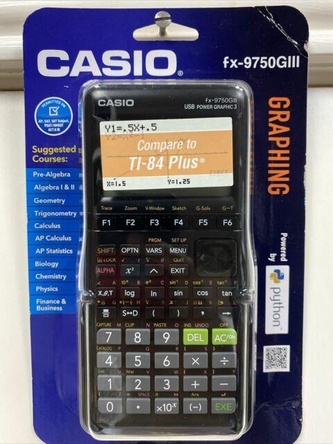 Casio fx-9750GIII Graphing Calculator Python White/Black Brand New Retail Pack