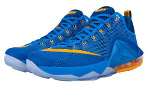 BRAND NEW Nike Lebron XII 12 Low Entourage Blue   Gold Air Max Shoes ... 099ce5e26d6e