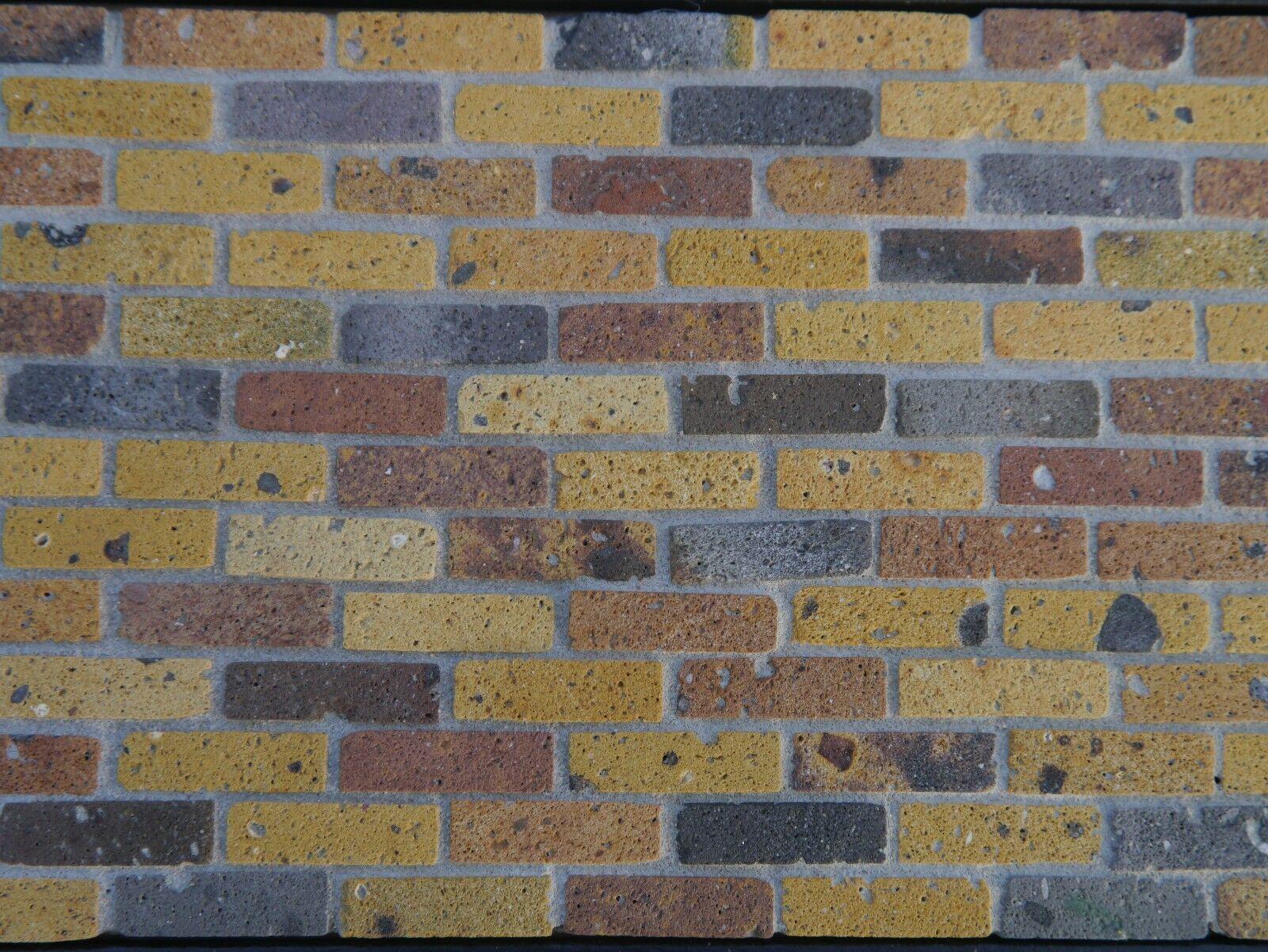 1000 1 12thGelb Stock Miniature REAL BRICK Brickslips