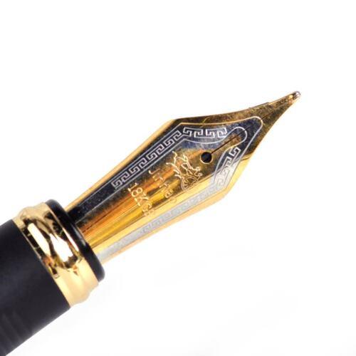 Metal 0.5mm Füllfederhalter Kolbenfüller Füller Füllhalter Nib Fountain Pen Gift