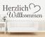X4458-Wandtattoo-Spruch-Herzlich-Willkommen-Sticker-Wandaufkleber-Aufkleber Indexbild 1