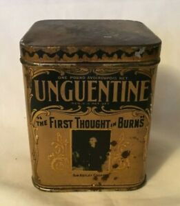 Early Medicine Tin UNGUENTINE For Burns NORWICH PHARMACAL NORWICH NEW YORK