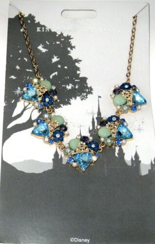 Disney Parks Necklace✿Kingdoms Castles Princess Crown Jewels Flowers Adjustable