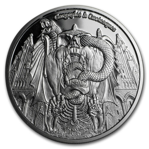 2017 Chad 1 oz Proof Silver Gargoyles and Grotesques SKU#151218 Decay