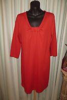 Vintage Rockmans Claret Smock Dress Size 12