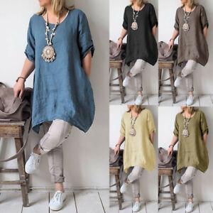 fca5bad15f8 New Women Plus Size Summer Style Feminino Vestido Cotton Casual ...