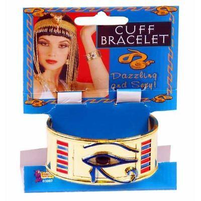 Affidabile Wicked Cleopatra Bracciale Braccialetto Fancy Dress Costume Di Halloween Party Accessorio Nuovo- Texture Chiara
