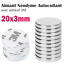 Lot-Aimant-Neodyme-Autocollant-Adhesif-3M-Neodymium-Adhesive-Magnet-Pad-20x3mm miniature 1