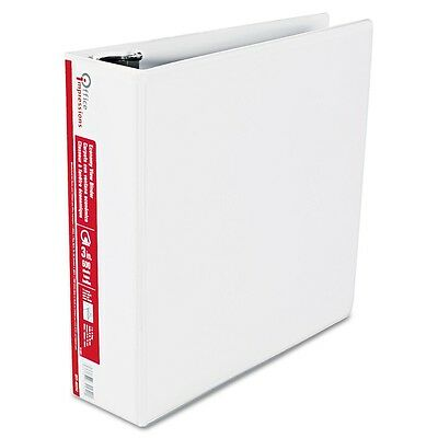 "Office Impressions - Economy View Binder, D-Ring, 3"" - White 600 Sheet Capacity"