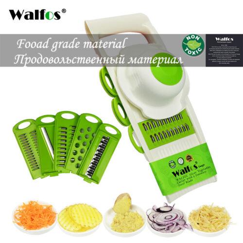 Adjustable Vegetables Peeler Onion Grater Cutter Mandoline Slicer with 5 Blades