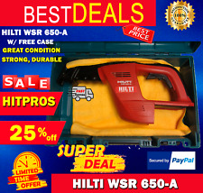 Hilti Wsr 650 A With Free Case Great Condition Strong Durable Fast Shipping