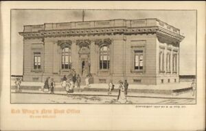 Red-Wing-MN-New-Post-Office-Architect-039-s-Drawing-To-Cost-60-000-Postcard