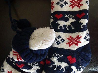 Zapatilla con dibujos calcetines ~ un tamaño ~ a estrenar