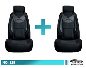Sitzbezüge Opel Astra III ab 04 5-Sitze Maß PKW Schonbezüge Schwarz Sitzbezug