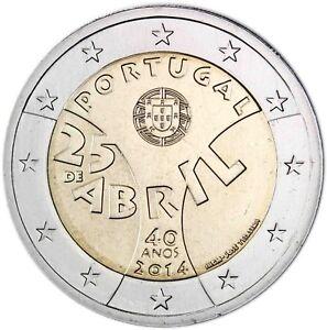 Portugal-2-Euro-2014-Nelkenrevolution-in-Portugal-Gedenkmuenze-bankfrisch