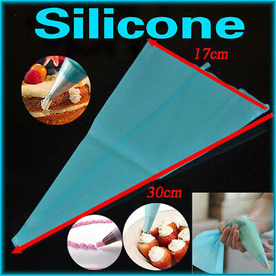 11.8'' DIY Silicone Reusable Icing Piping Cream Pastry Bag Cake Decorating Tools