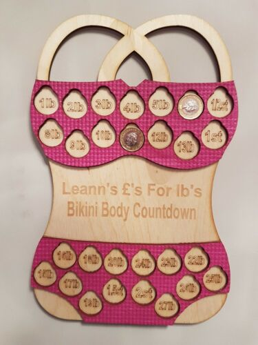 Slimming World Personalised 2st Bikini Weight Loss Coin Board Weight Watchers