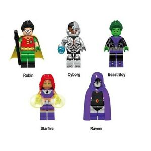 G3-Teen-Titans-GO-Set-Custom-Minifigure-Gashapon-LEGO-Nuovo-in-Blister