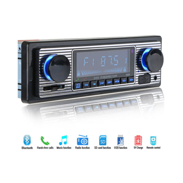 Bluetooth Vintage Car Radio MP3 Player Stereo USB AUX Classic Car Stereo Audio B